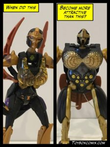 Two Blackarachnia toys